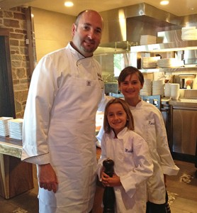 Chef Gabriel Caliendo with his children (and fellow chefs) Kaden and Makayla