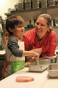 Chef Lindsay's son Diego already rules the kitchen.