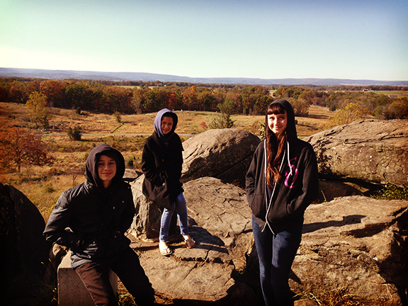 Little Round Top, where the Union held their ground at Gettysburg.