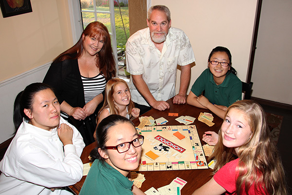 The Greenler family considers their international students part of the family.