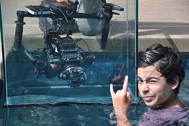 Joshua Ovalle of Huntington Beach gets time to pursue his passion for making films