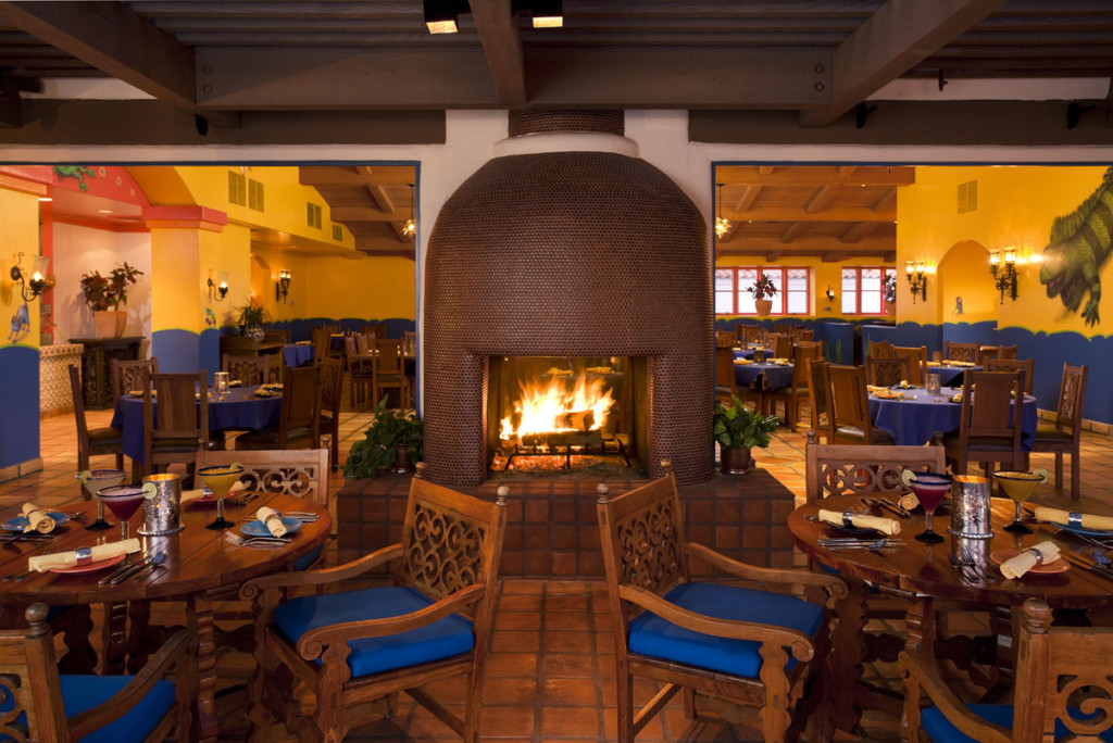The family-friendly Adobe Grill offers authentic regional Mexican cuisine.